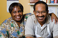 Granny's Kitchen owner Hassie Russ and her husband, Charles