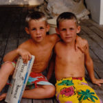 Jarrod and Jake Owen, right, spent most of their free time at the beach or in their pool.