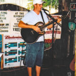 Jake used to play for tips and a fish sandwich at Riverside Cafe when he came home on breaks from college.