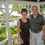 Christine and Paul Dekker enjoy the serenity of their gazebo and lakefront views. GREG GARDNER