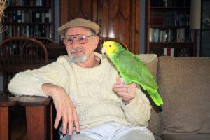 Howard Brown and faithful companion, Stella