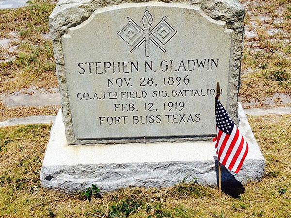 Stephen Gladwin's tombstone