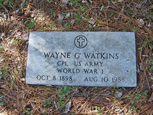 Wayne G. Watkins' grave