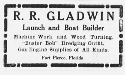 1906 ad appearing in the St. Lucie County Tribune