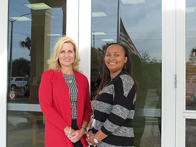 Principal Christi Shields with Vice Principal Latanya Ross.
