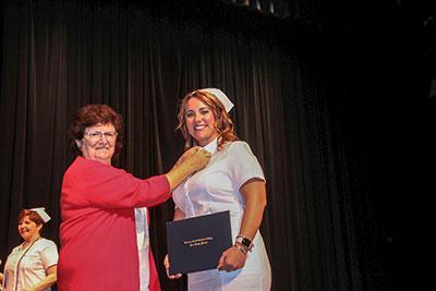 Practical nursing graduate Taylor Davis
