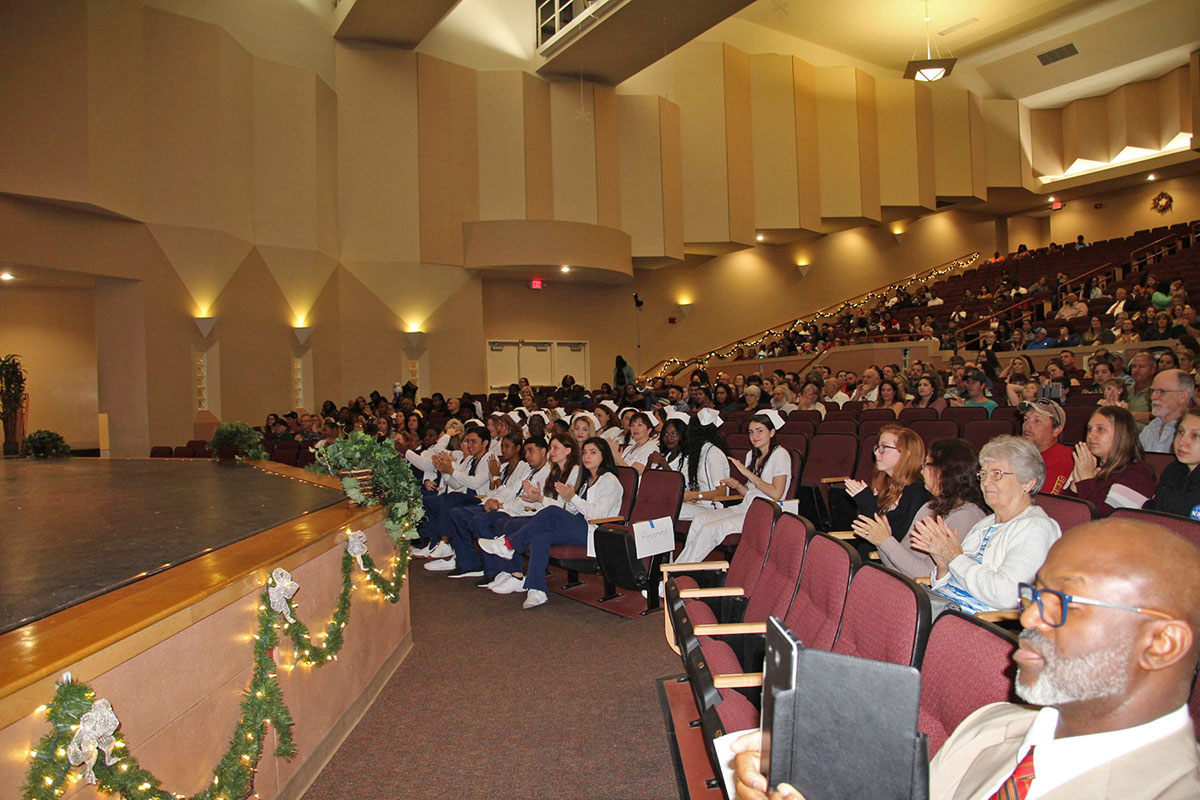 Students of the most recent nursing and medical assistant classes graduated in December as parents and friends celebrated with them.