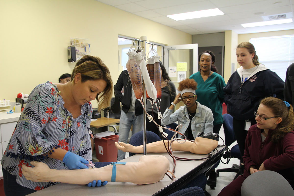 Students in the medical assisting program at Treasure Coast Technical College