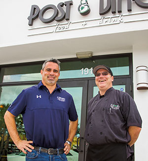 Post & Vine owner Bobby Del Campo, left, and managing partner and chef Sean Tuohy