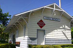 Vero's first train station was built in 1903