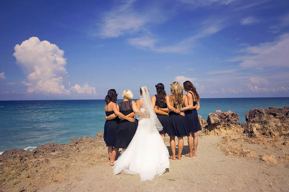 Abigail Rogan and her bridesmaids