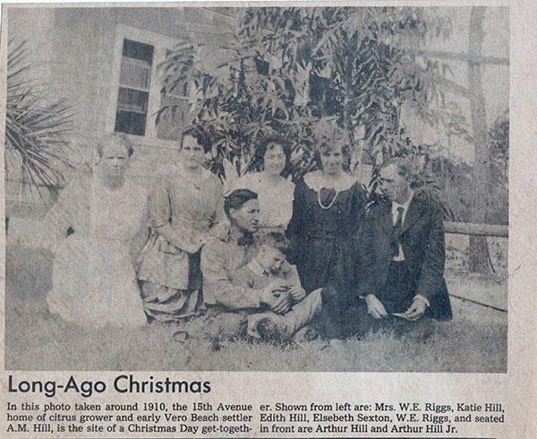 Christmas Day gathering circa 1912