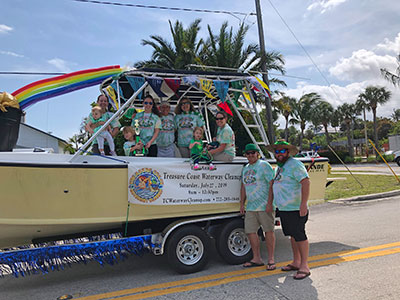 Treasure Coast Waterway Cleanup float