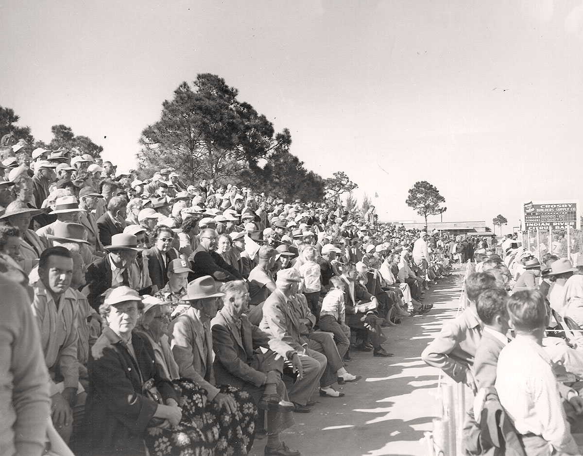 On opening day in Vero in 1948