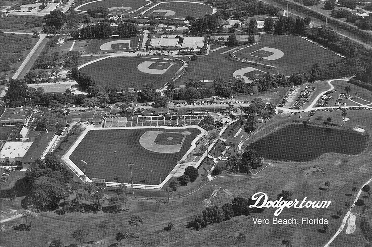 aerial view of the expansive Dodgertown complex