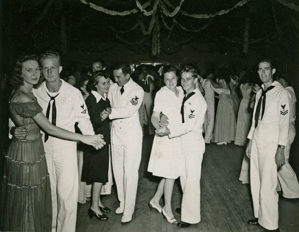 dancing at the USO parties