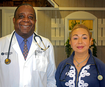 Dr. Georges Guerrier joined Dr. Maria Rizo at ABC Pediatrics