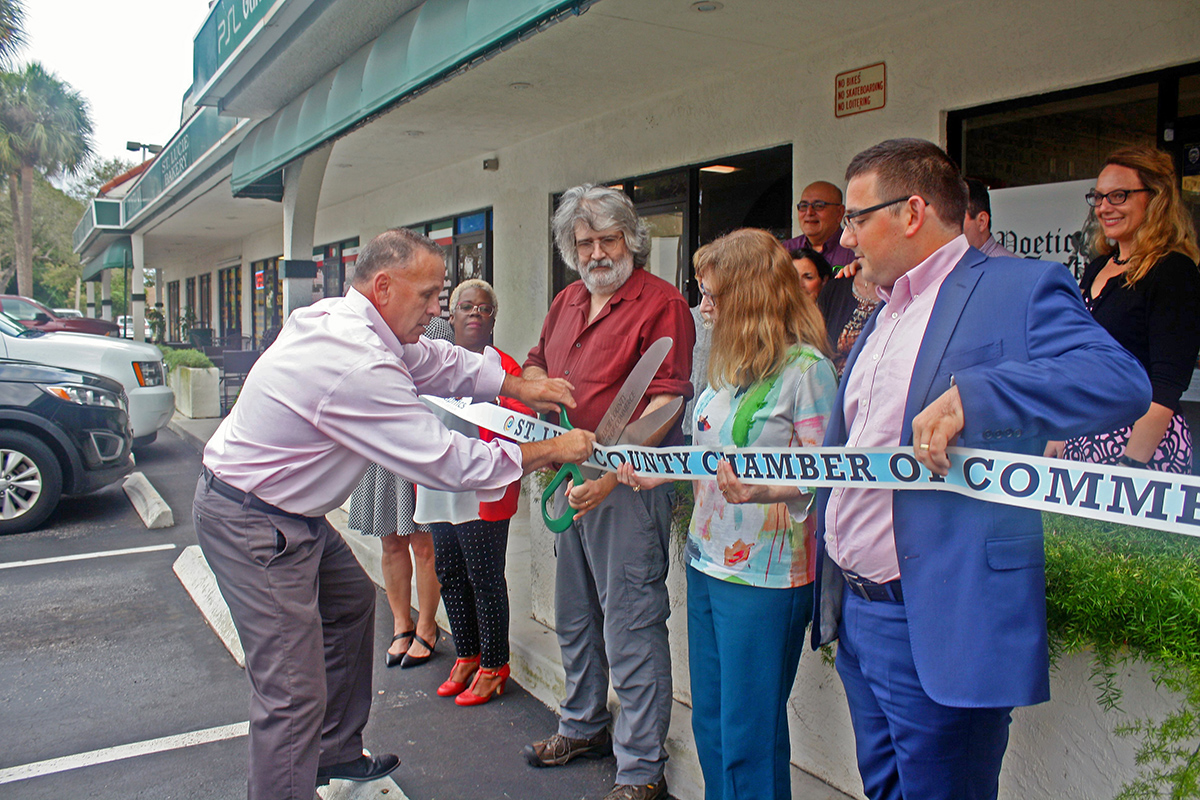 The Port St. Lucie Chamber of Commerce set up a ribbon-cutting