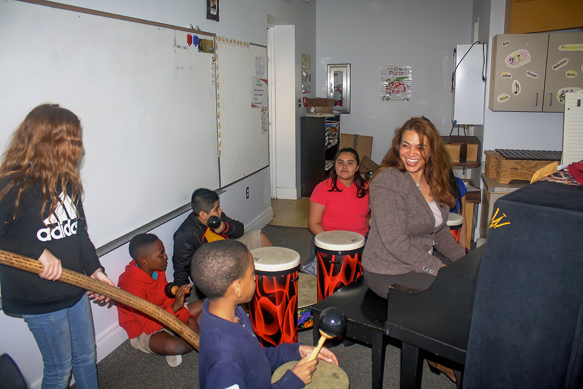 Samantha LaCroix exposes her students to music