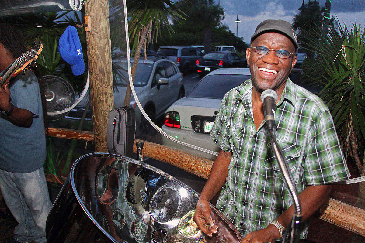 "Steel drum player James ""Jimmy G"" Graham"