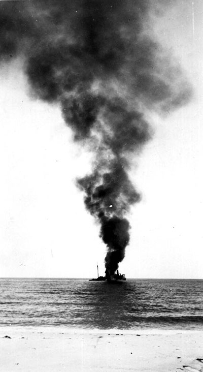 German U-boats sank a number of ships off the coast of Vero Beach