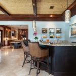 The bar in the family room