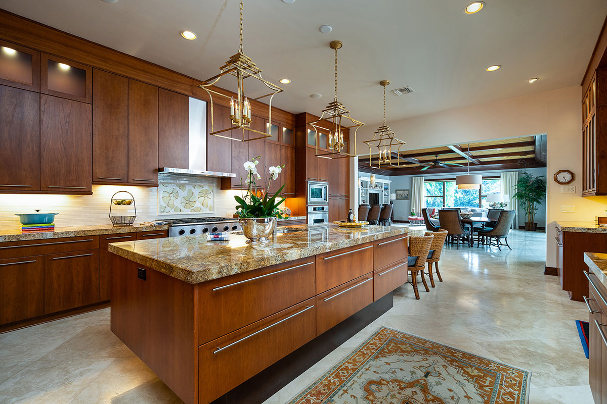A large chef's kitchen