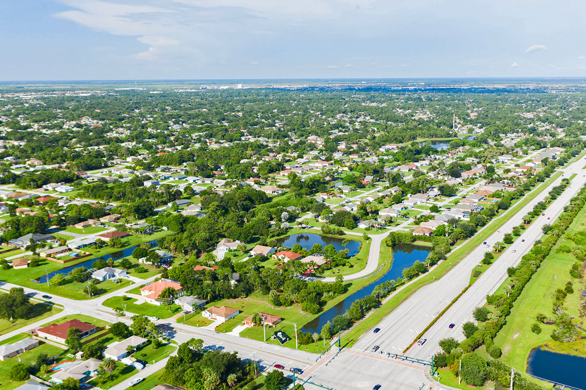 Tranquil, attractive neighborhoods dot Port St. Lucie