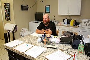 Client volunteer Michael Amhrein