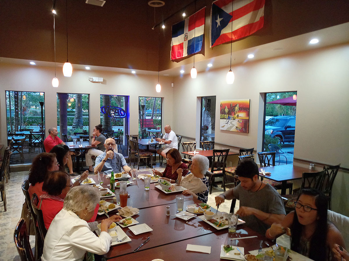 Restaurant-goers enjoy the rich flavors of the Latin dishes Dom Rico Cafe offers in its open and inviting dining space on Port St. Lucie Boulevard.