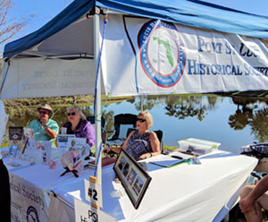 the society's booth at the Botanical Gardens