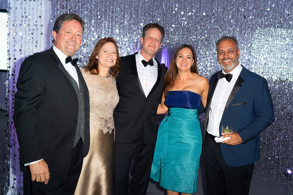 Robert and Beth Lord, Dr. Edward Savage, and Michelle and Dr. Wael Barsoum celebrate a night of successful giving at the 2018 ball.