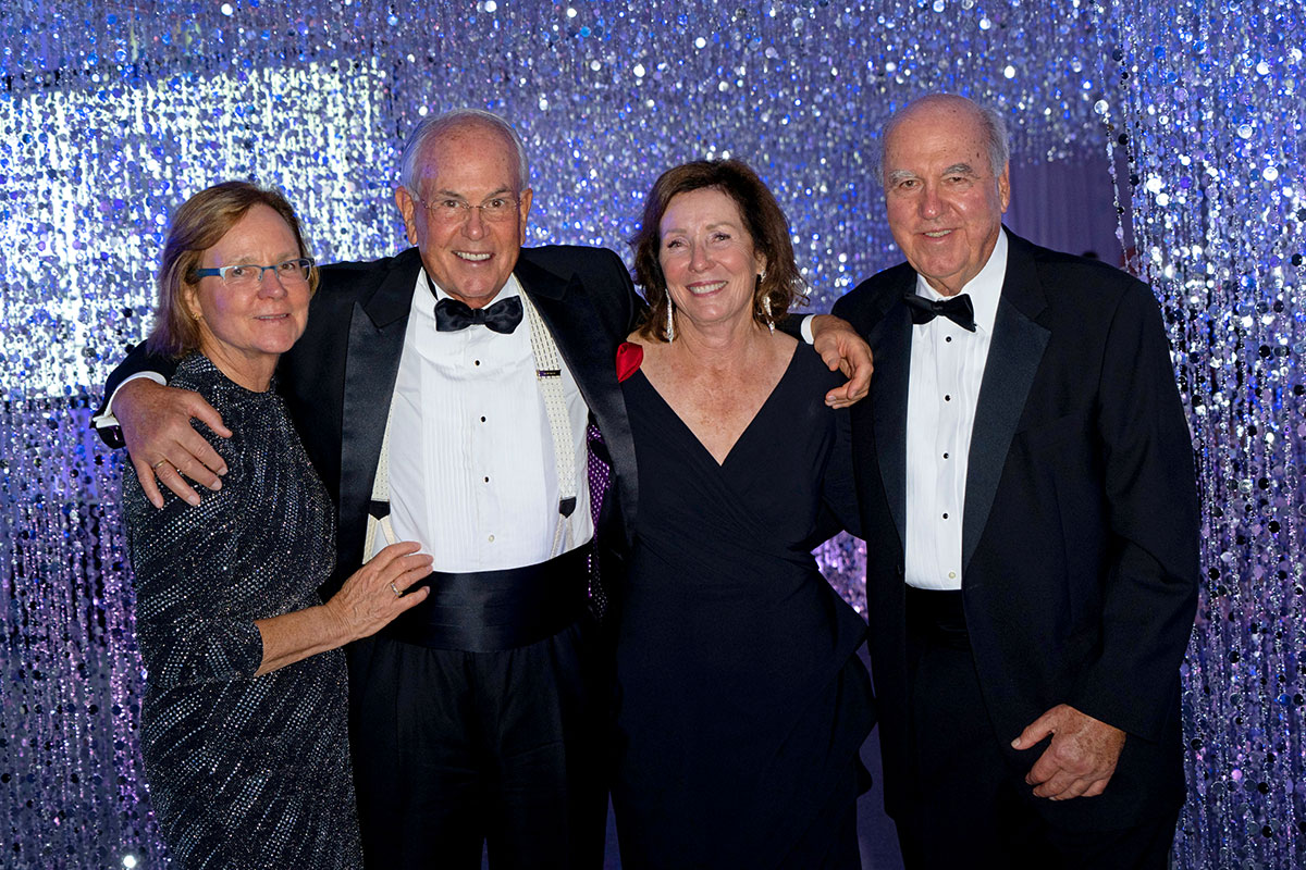 Sandra Porter, second from right, co-chair of the 2018 and other balls, shares a moment with Suzanne and Anthony Kissling and William Lichtenberger.