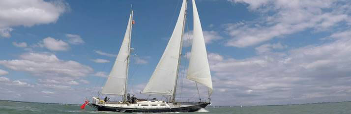 The 70-foot ketch Eriksen will be sailing on from the Azores to Antigua.