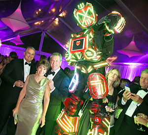 Karen and Richard Dakers revel in the futuristic theme at the 2016 ball.