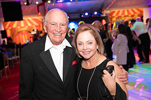 H. Lee and Dianne Davant Moffitt enjoy the ball festivities in 2017, while supporting an important cause.