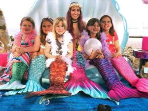 Kids love to dress up as mermaids