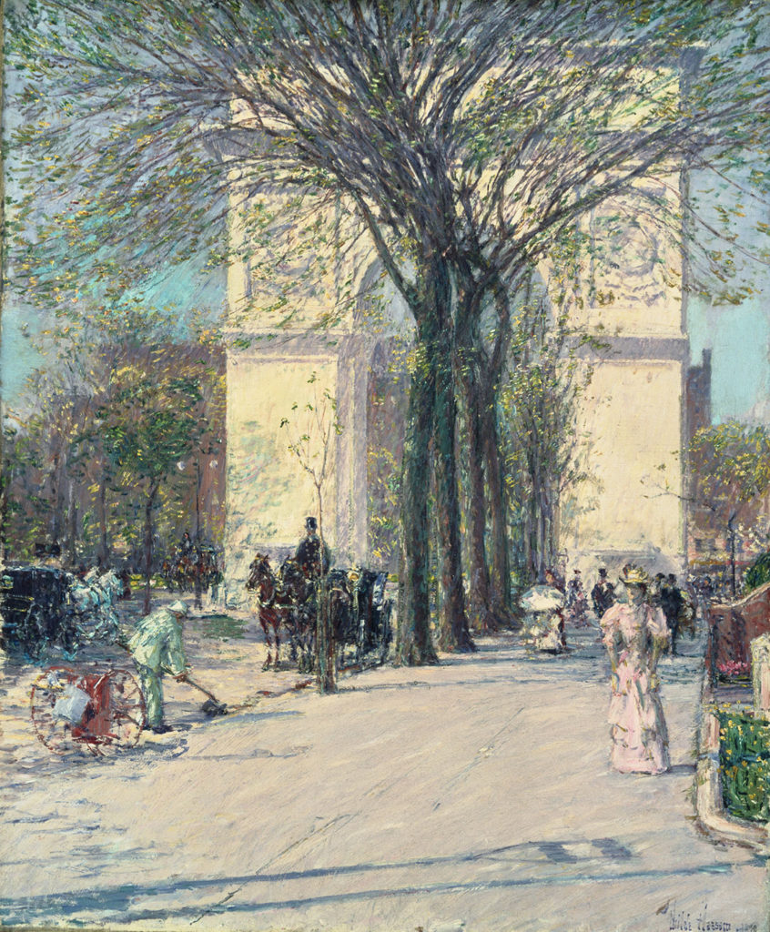 Washington Arch, Spring, by Childe Hassam (1859-1935)