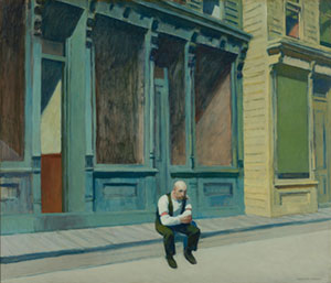 Sunday by Edward Hopper (1882-1967), oil on canvas