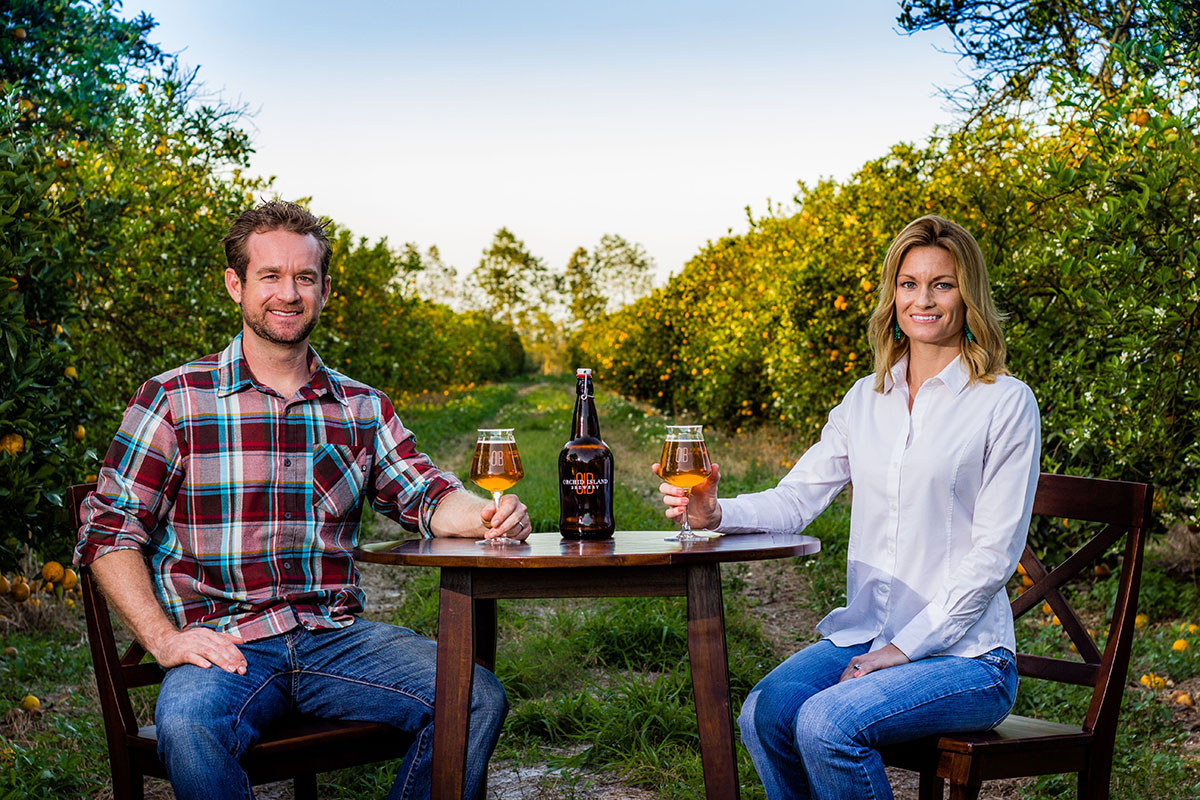 Orchid Island Brewery owners Alden Bing and Valerie Bing