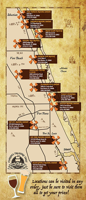 Wine and Ale Trail map