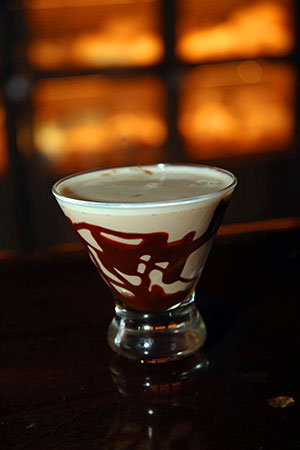 a chocolate martini, one of 20 craft cocktails
