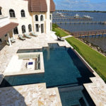 pool area has expansive views of the St. Lucie River