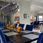 The informal dining room