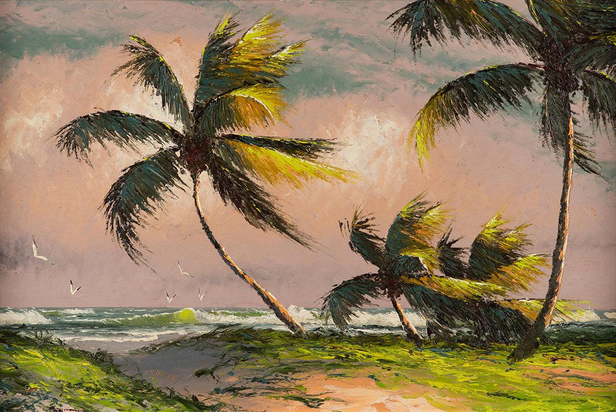 Beach scenes were common subjects for all the Highwaymen