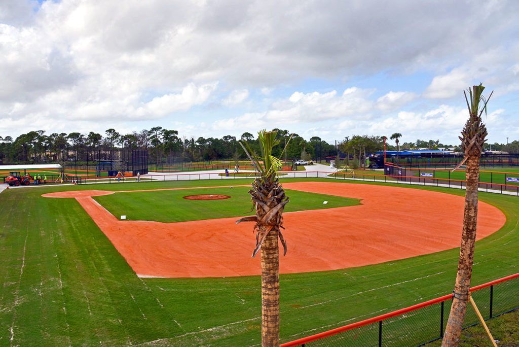 Renovations to the practice fields at Clover Park