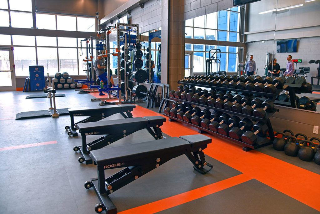 Weight training facilities
