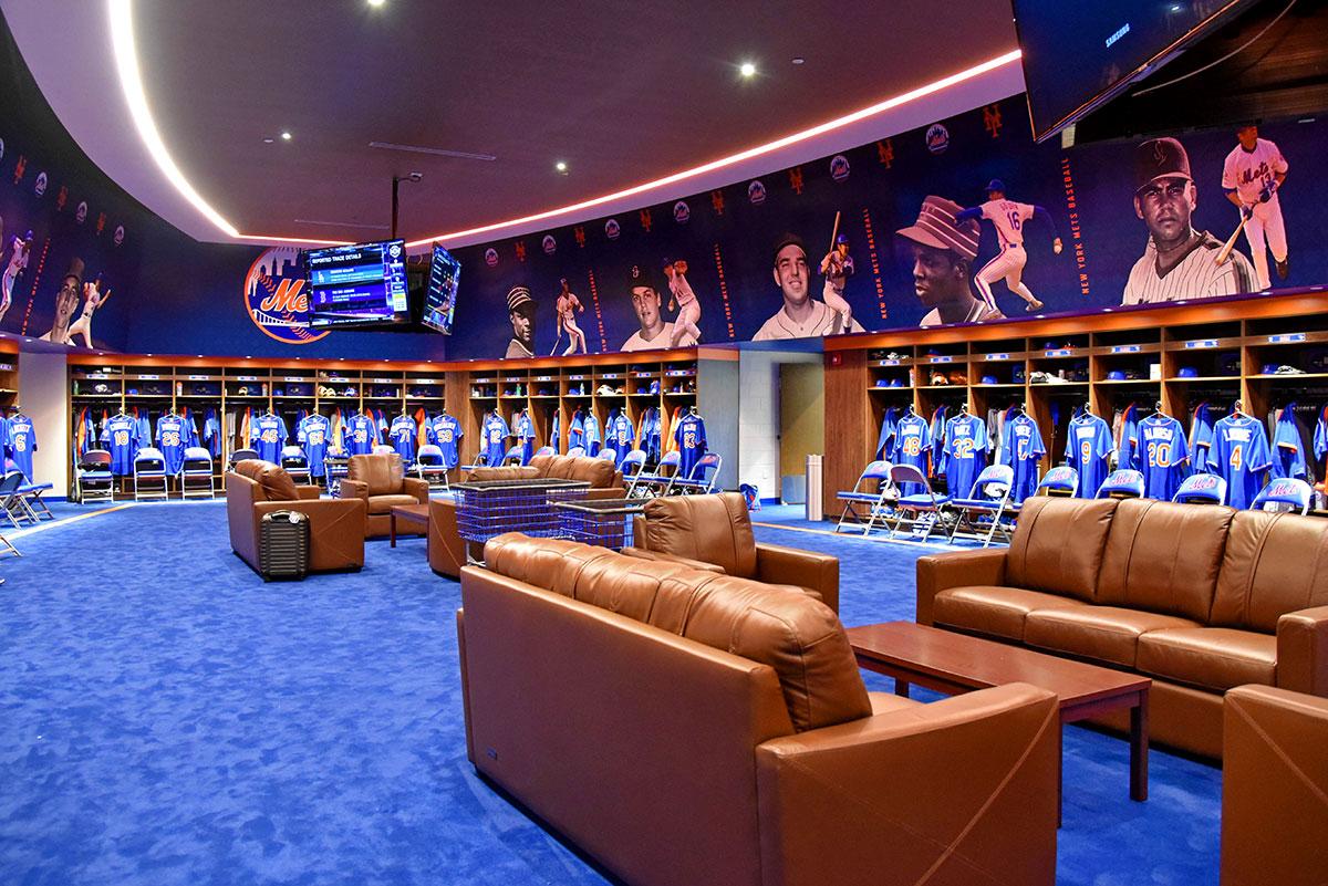 Mets locker room