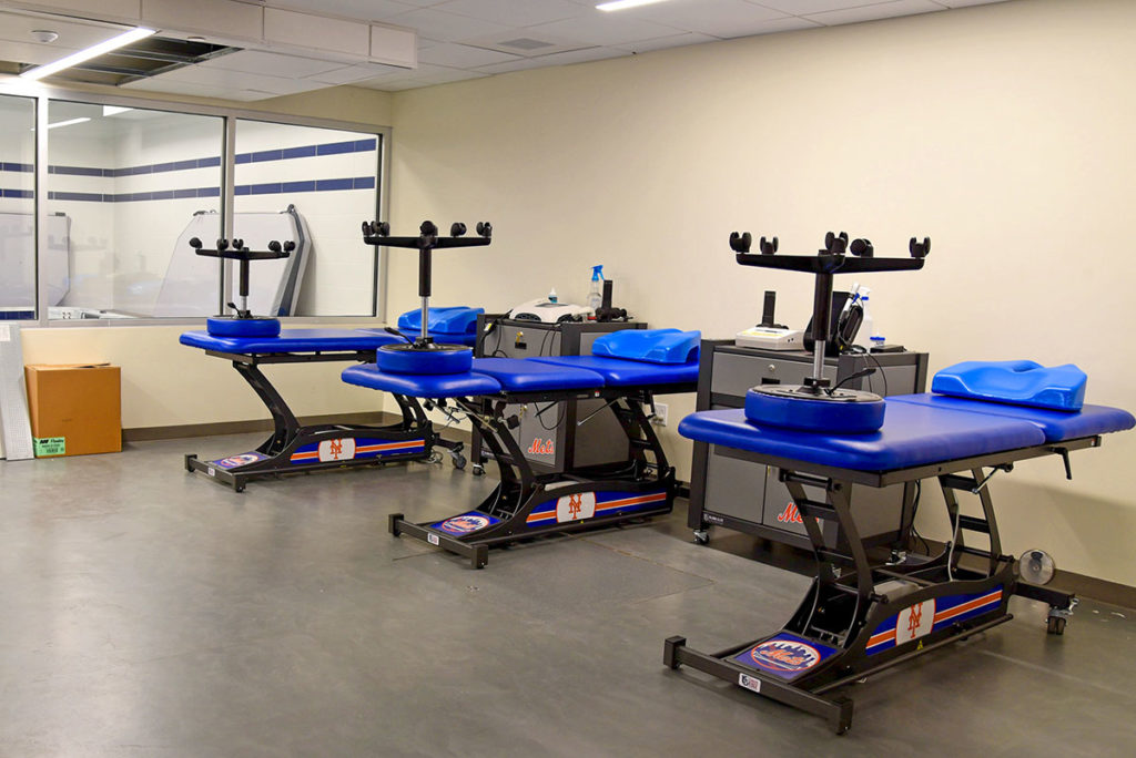 updated physical therapy room