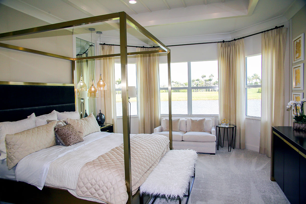 Master bedrooms in the Carlyle model